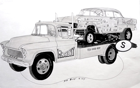 Page 10 Custom Car Hot Rod Drag Racing Art Prints By