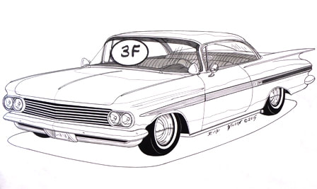 Page 6 - CUSTOM CAR, HOT ROD, DRAG RACING ART PRINTS BY RICK