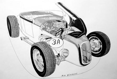 Page 3 - CUSTOM CAR, HOT ROD, DRAG RACING ART PRINTS BY RICK WILSON